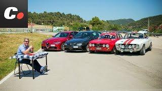 Alfa Romeo Giulia Quadrifoglio 2018 vs 147 GTA, GTV, GTAm   Prueba / review en español   coches.net