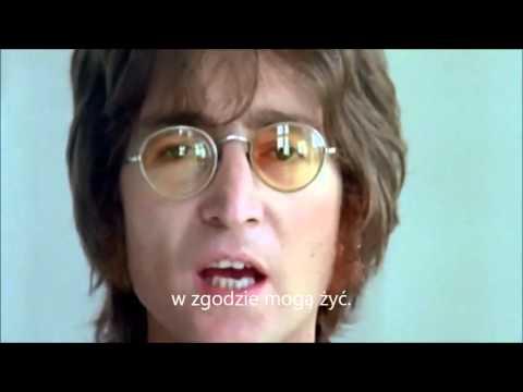 John Lennon Imagine Wyobraz Sobie Tlumaczenie Pl Youtube