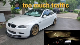 SUPERCHARGED BMW E92 M3 p3 gauge dataloging | Illegal Night Drive pt 3