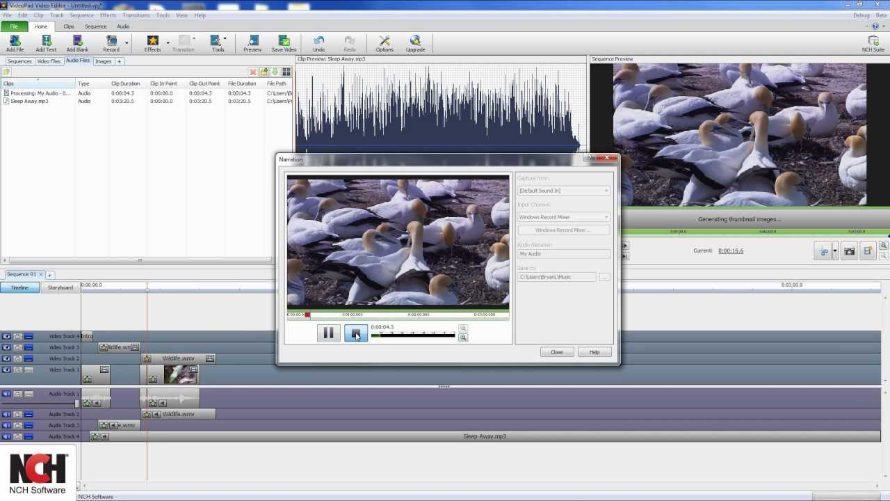 VideoPad Video Editing Software | Overview Tutorial - YouTube