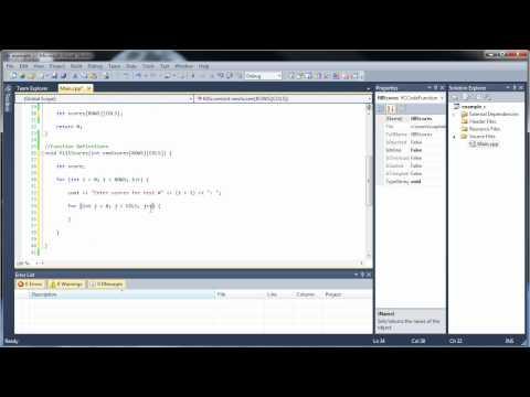 c++-tutorial-17---multidimensional-arrays-as-parameters