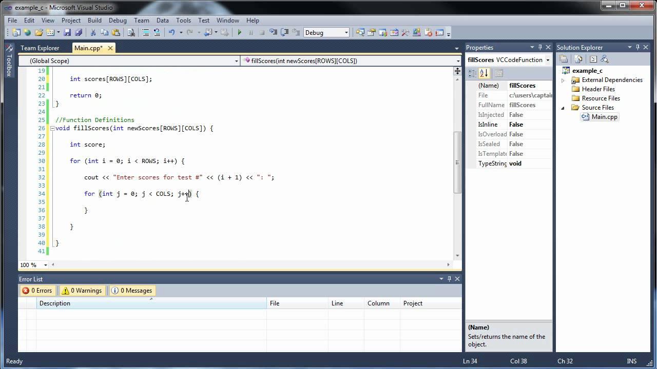 C++ Tutorial 17 - Multidimensional Arrays as Parameters