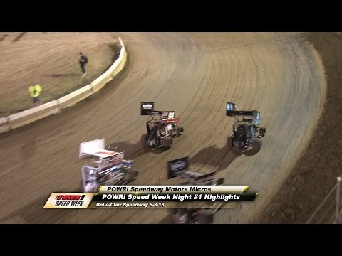 POWRi Speedway Motors A-Main Highlights from Belle-Clair Speedway 6-8-16