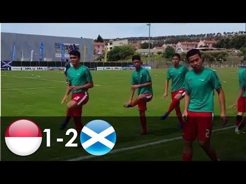 Indonesia U19 vs Skotlandia U21 1-2 | Highlights | Toulon tournament | 6/6/2017