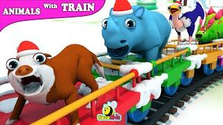 Episode Chubby Bubu Learn Animals With Train Cartoon for Kids | Slide Nursery Rhyme | VovoKids