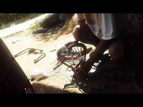 Pemasangan hidrolik pada jok vespa