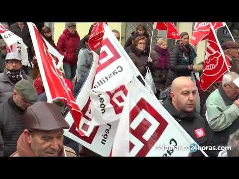 Manifestación de pensionistas en Salamanca