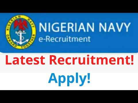 Nigerian Navy Latest Recruitment! | Federal Government Jobs| Apply!