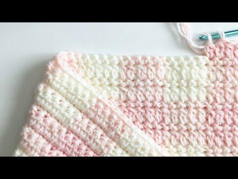 DC2tog (Double Crochet 2 Together) Gingham Blanket