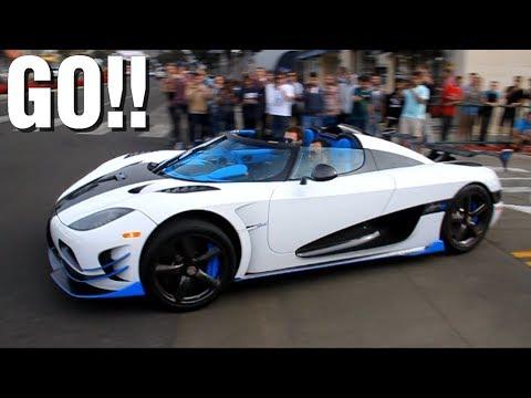 Hypercars & Supercars accélérations - Agera, P1, Aventador...