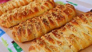 Pão Trança de Massa Folhada com Recheio de Calabresa