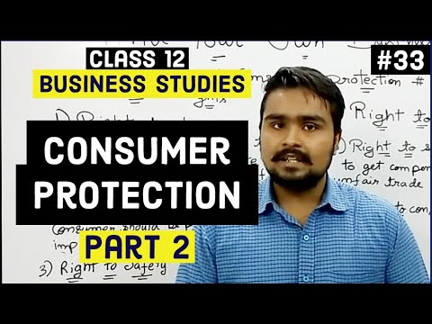 Class 12 business studies (consumer rights and responsibilities)mind your own business video 33