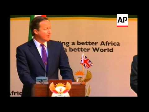 WRAP British PM Cameron on visit, comments hacking scandal, Africa aid