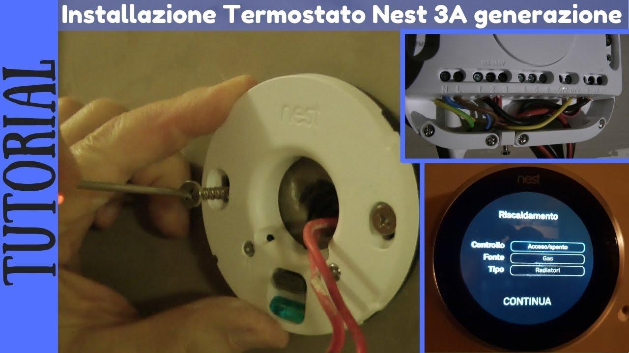 Schema Collegamento Termostato Nest : Tutorial ita installazione del termostato nest di a generazione