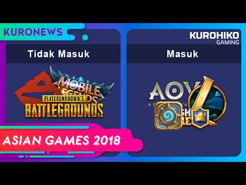Terbongkar!! 6 Games Yang Masuk Asian Games 2018 - KuroNews