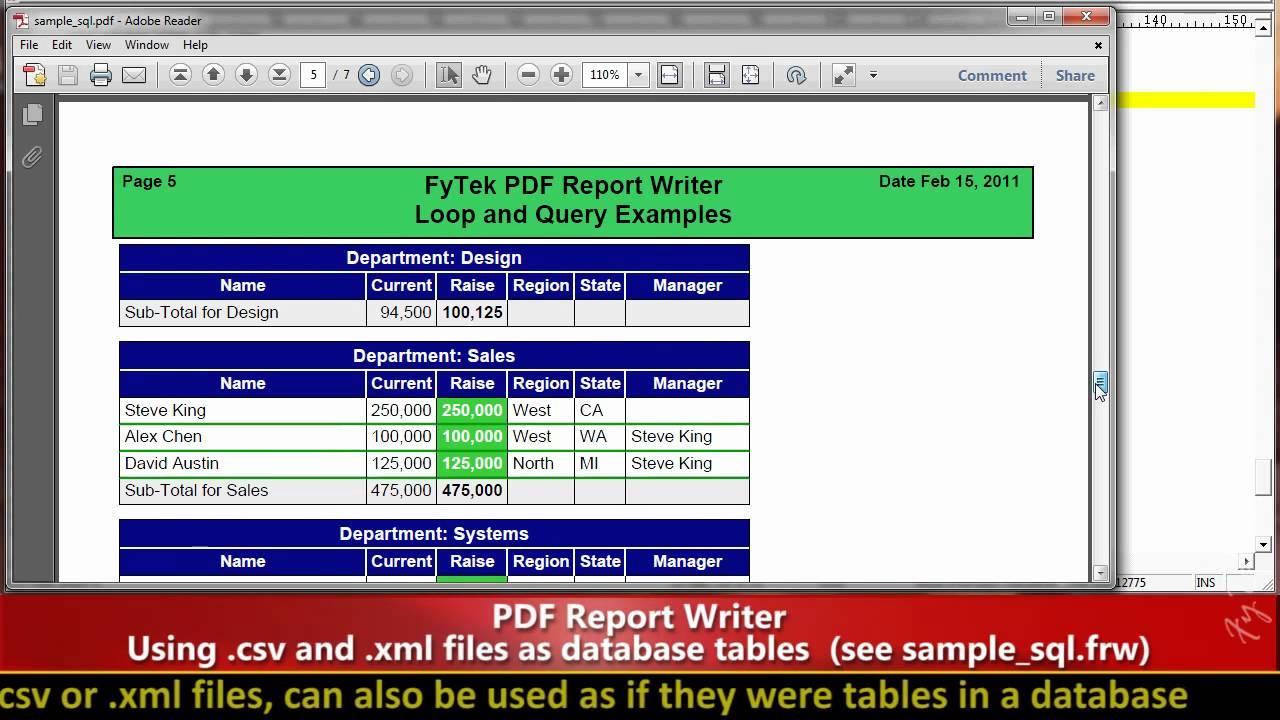 Fyteks pdf report writer part ii database connections youtube fyteks pdf report writer part ii database connections ccuart Image collections