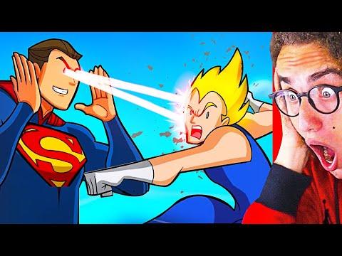 Reacting To INSANE DRAGON BALL Z vs. SUPERHEROES ANIMATION!