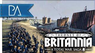 THRONES OF BRITANNIA SIEGE - EPIC BEACH LANDING! - Thrones of Britannia: Total War Saga Gameplay