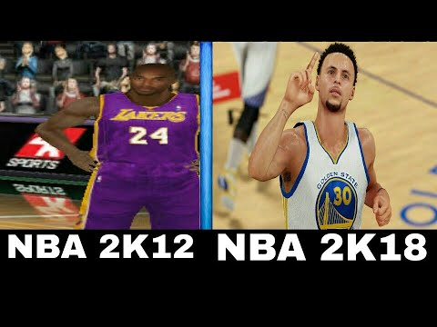 EVOLUTION OF NBA 2K MOBILE (2K12 - 2K18) ANDROID & IOS