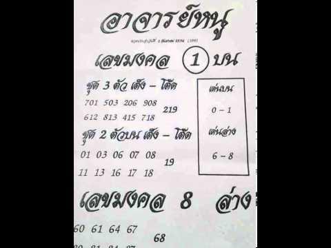 เลขเด็ด เลขดัง หวยอาจารย์หนู งวด 1 กันยายน 2556 (01/9/56)