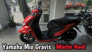 Yamaha Mio Gravis - Matte Red Edition