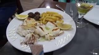 Влог Мальград де Мар встреча со моей зрительницей Рыбный ресторан. Испания