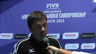 12.10.2013 Flash-Interview Stav Jacobi (President, Volero Zurich) @ FIVB Womens CWC, Zurich