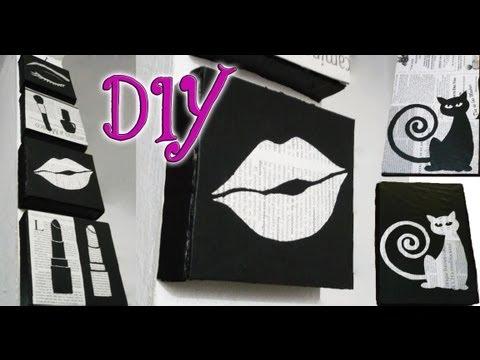 Diy ✄ cuadros minimalistas para decorar paredes ◘ (reciclando ...