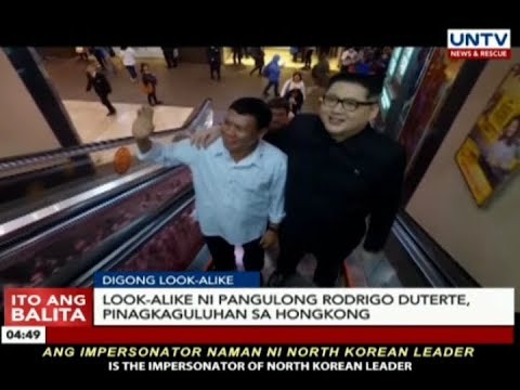 Look alike ni Pangulong Duterte, pinagkaguluhan sa HongKong