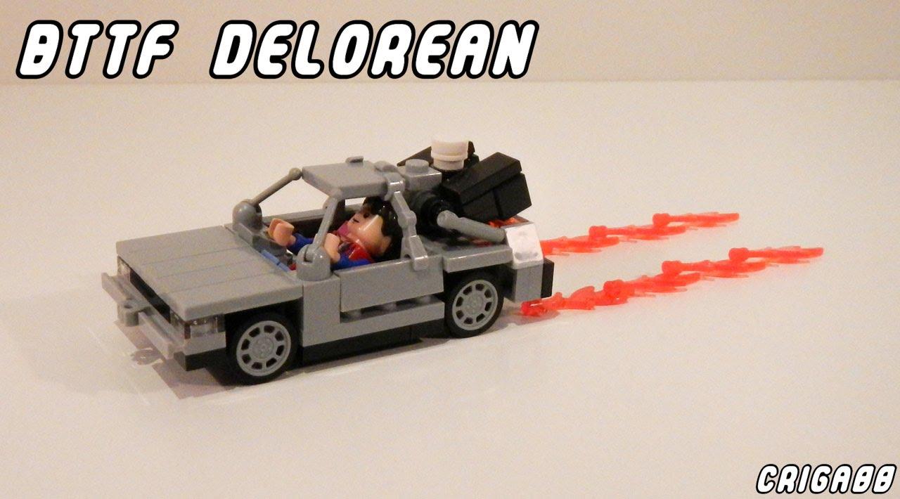 Lego Bttf Delorean Moc Youtube