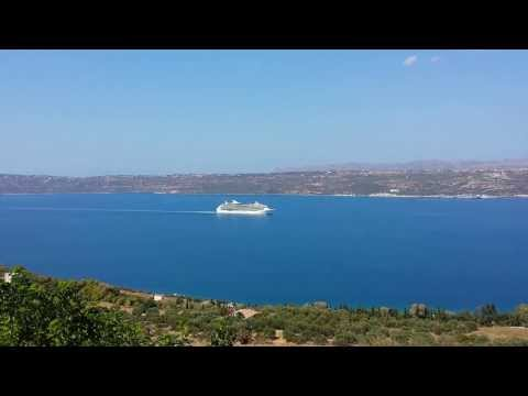 Navigator of the Seas (Royal Carribean Line) sailing out of Souda Bay, Chania, Crete