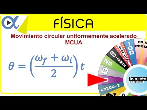 Movimiento circular uniformemente acelerado (MCUA) ejemplo 1 de 5   Física - Vitual