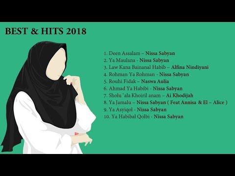 Lirik Lagu Islami | Sholawat Merdu Terbaik Hits Di 2018 By Sabyan | Nindiya | Naswa  | Ai Khodijah