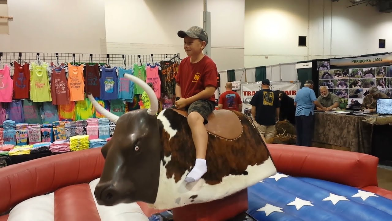 Wild Bull Rider - Before He Was an Accomplished Wild Game Cooking Artist - Great Ride!