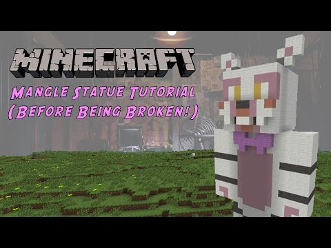 Minecraft Tutorial: Mangle / Funtime Foxy (Five Nights At Freddy's 2) Statue