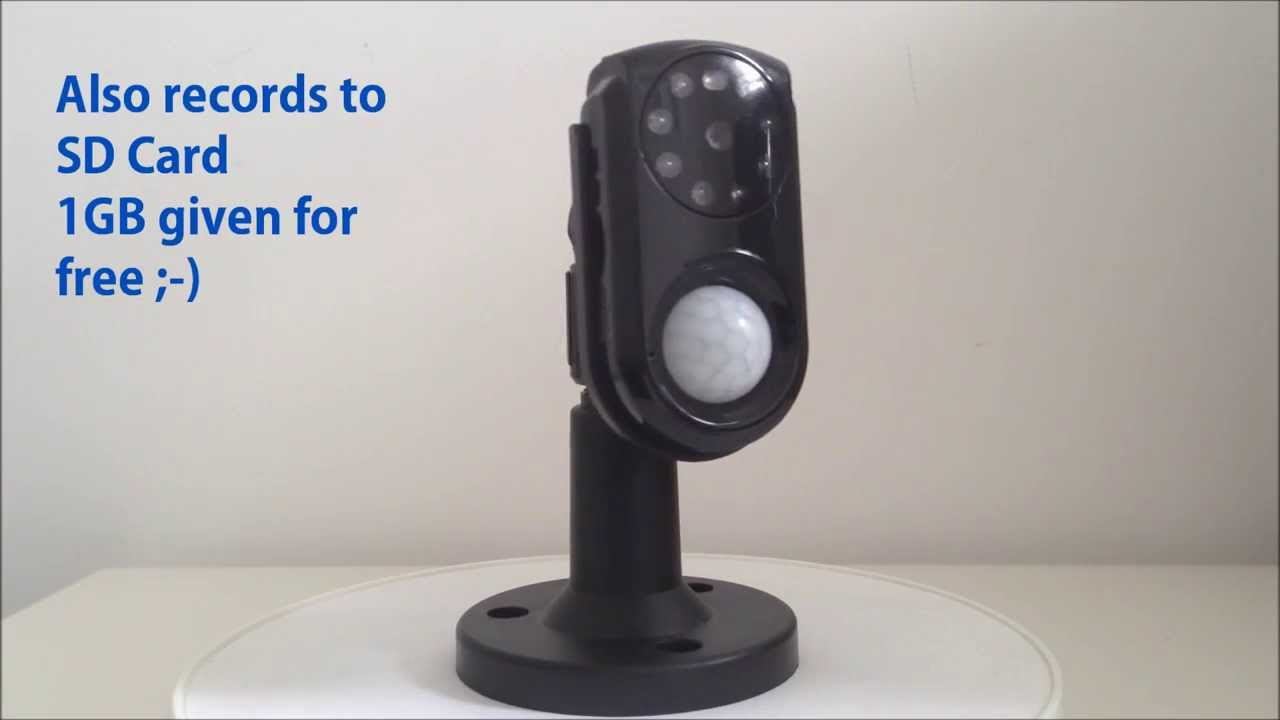 GSM Wireless CCTV Security Camera Sends To Phone Sms Mms