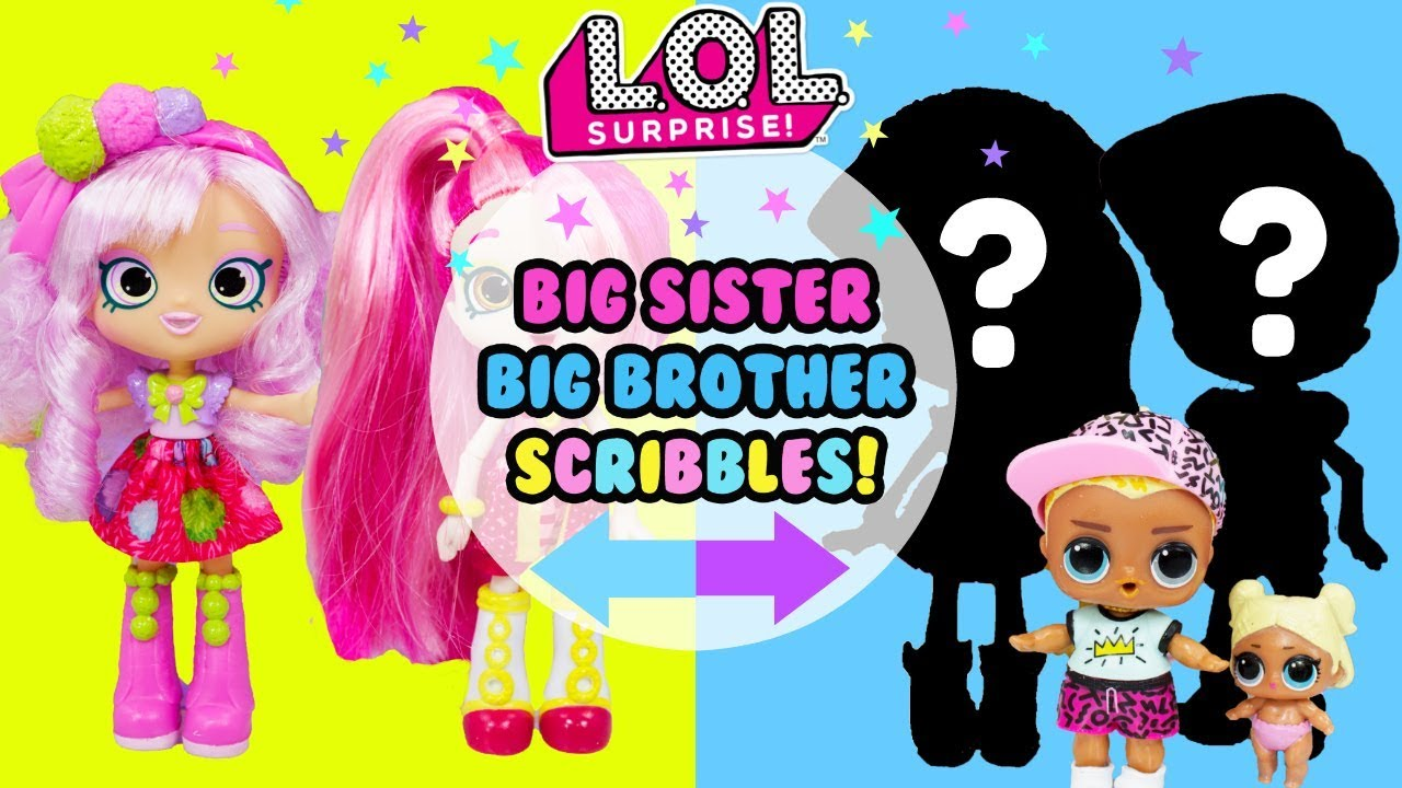 9211ff202 LOL SURPRISE Big Sister & Big Brother Scribbles DIY 2 Makeovers in 1 Big  Sister Show
