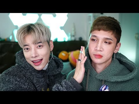 Aoora tries to do my makeup lol - Edward Avila
