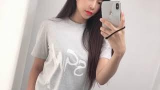MSGM 19FW 로고 티셔츠 라이트 그레이