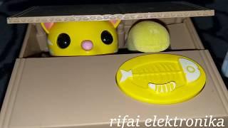 Kotak Kardus Celengan Kucing Meong Ajaib