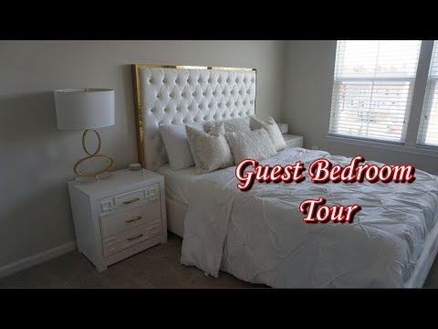 ~Modern Glam Guest Bedroom Tour ~ HomeDecor~ Interior design