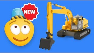 Kid's 3D Construction Cartoon : Build a Crawler Excavator I Learning Construction Vehicles for Kids