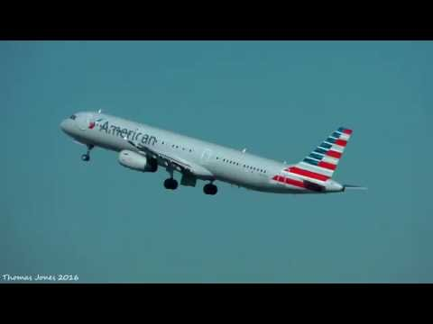 American Airlines A321 & A319, US Airways Express CRJ-200 Takeoff at Philadelphia (KPHL)