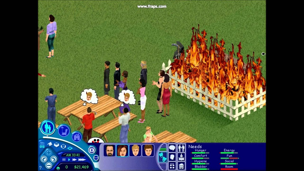 the sims 1 fire youtube. Black Bedroom Furniture Sets. Home Design Ideas