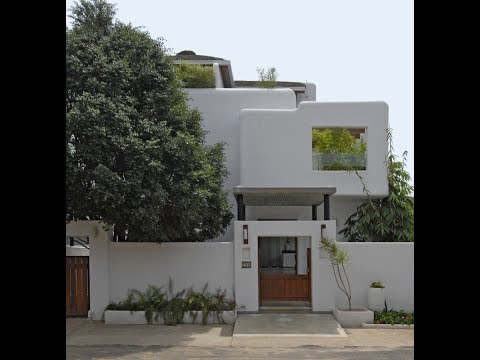 5,614  sq ft The White and Wood Villa, Bengaluru by Gayathri & Namith Architects