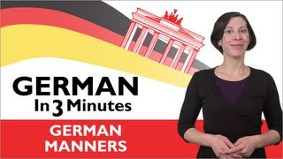 Learn German - German in Three Minutes  - Thank You & You