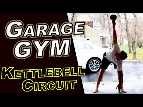 Garage gym kettlebell circuit youtube