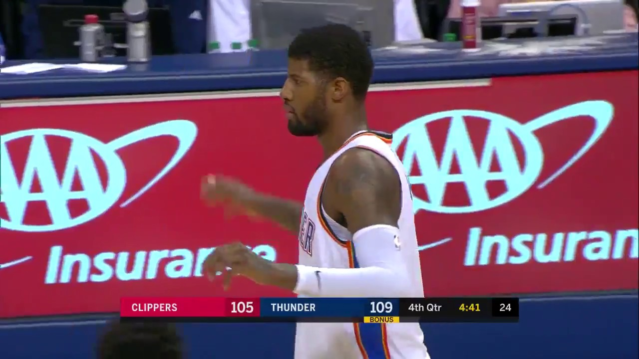 Paul George Goes Off for 42 Points in Thunder Win vs. Clippers