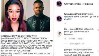 Tonto Dike threatens to take Comedian, Funny Bone to prison