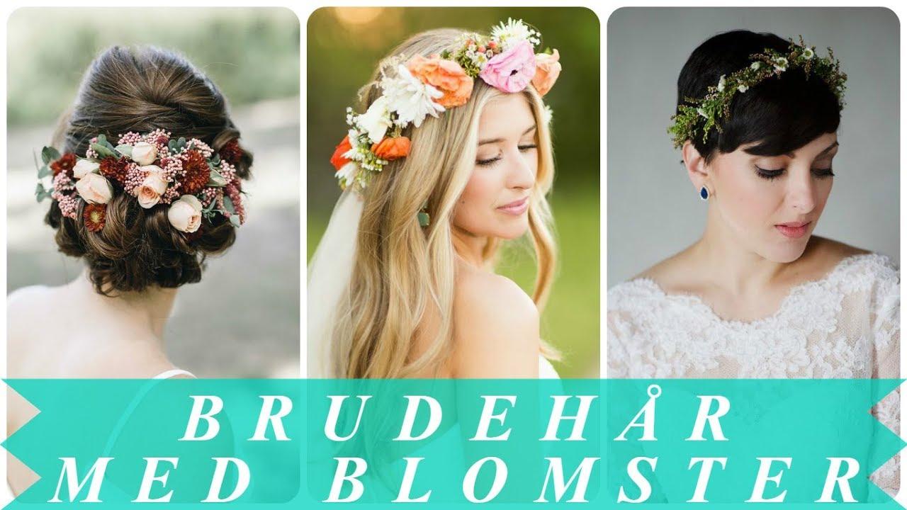brudehår med blomster
